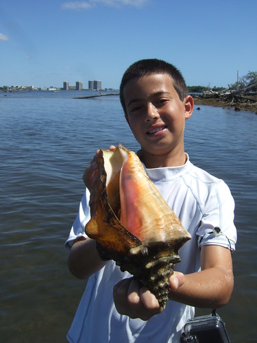 Ethan with a nice Queen Conch