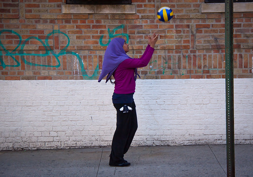 Young Girl Practices Volleyball - Sunnyside, Queens | by ChrisGoldNY
