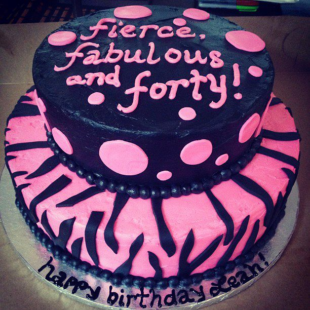 Fierce Fabulous And Forty Cake Kd Flickr