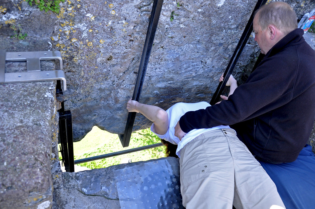 me kissing the Blarney Stone