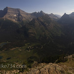 Mt. Cleveland and Kootenai Lakes from Porcupine Lookout