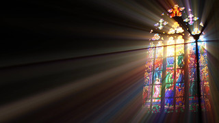 Stained Glass Window Full of Light and Color | by StockPhotosforFree.com