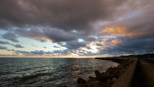 sunset sea japan evening holidays hokkaido 北海道 日本 facebook urakawa 2011 tomakomai 浦河 fotopedia lumixgvario714f40 lifeinjapan20102012