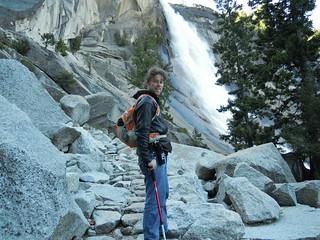 Hiking (and Climbing) Half Dome: Matt at ... Nevada Falls?   by mormolyke