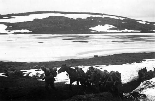 Marsjering til Titowka med hest