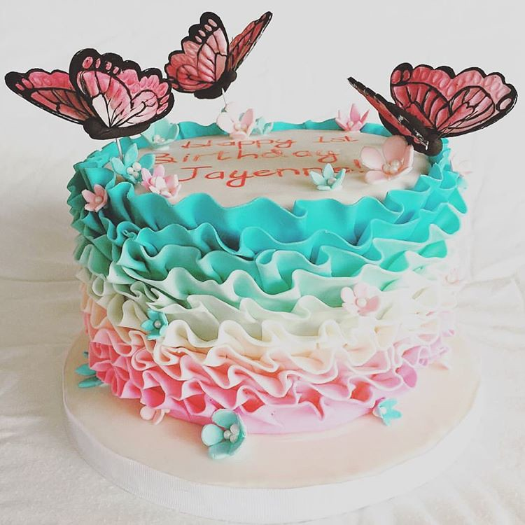 Butterfly Birthday Cake Toronto Cakedecorating Girly Beautiful