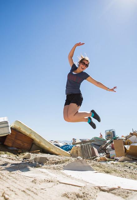 Jump for the dump