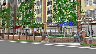 Street Level Rendering of The Promenade at Wyomissing Square | by The Promenade at Wyomissing Square