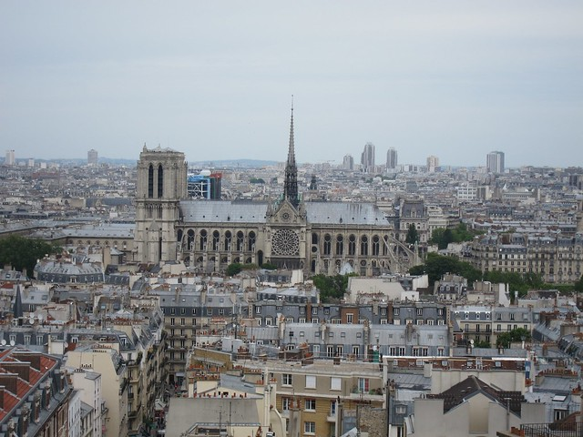 Notre Dame from the Pantheon colonnade