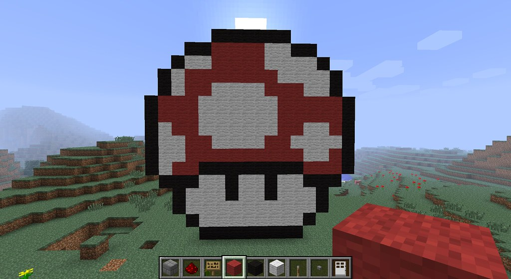 Super Mario Minecraft Pixel Art Ftw Ryan H Flickr