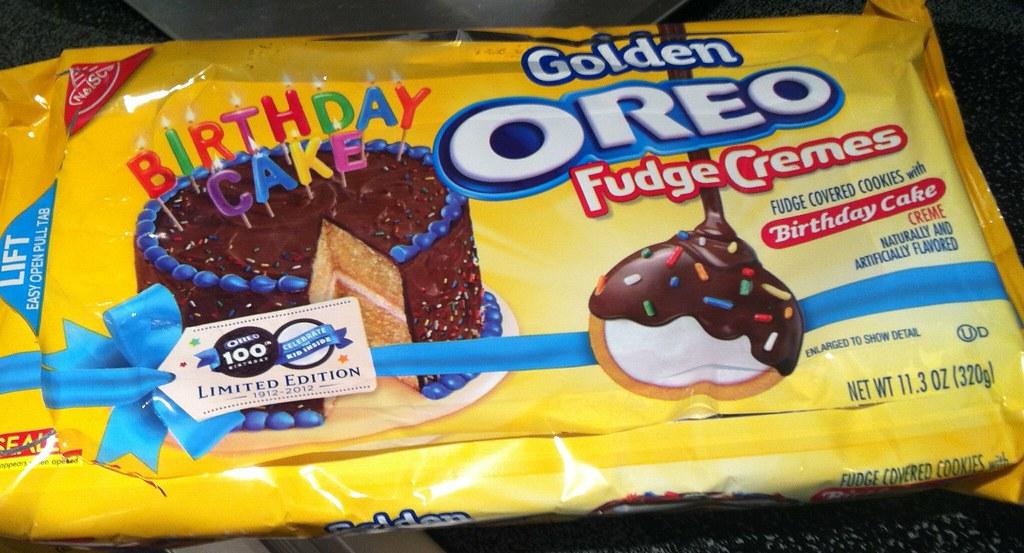 Peachy Limited Edition Birthday Cake Golden Oreo Fudge Cremes Flickr Personalised Birthday Cards Veneteletsinfo