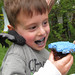Spidey trying to steal Kayden's cupcake :). Welcome Home Party in Dundas, ON. Canada 12MAY12