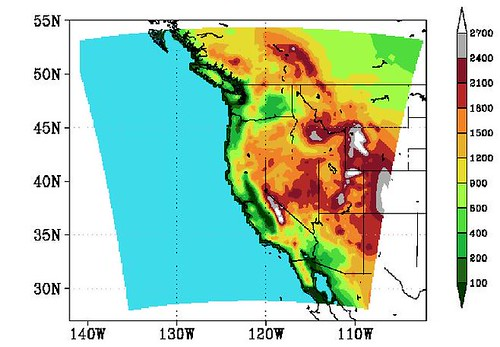 Elevation map | by Oregon State University