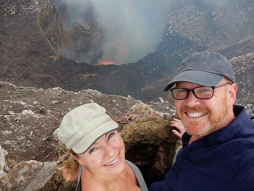 Masaya - vulkaanselfie