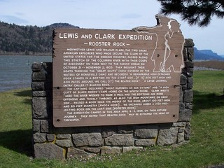 Lewis and Clark interpretive sign at Rooster Rock