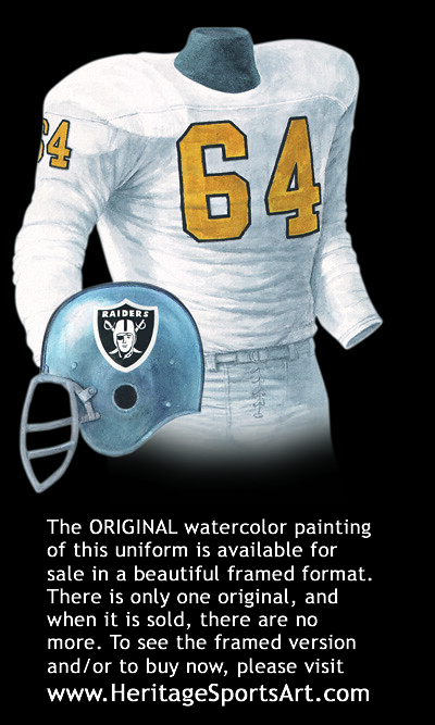 newest c39ae 49253 Oakland Raiders 1963 uniform artwork | This is a highly deta ...