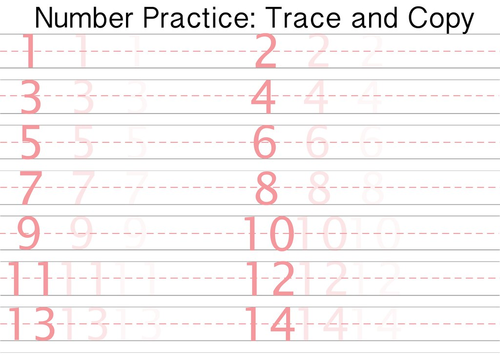 free printable number writing practice sheet sidther 39 s. Black Bedroom Furniture Sets. Home Design Ideas