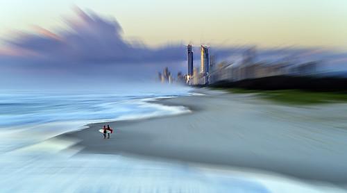 city red blur photoshop sunrise gold coast paradise zoom towers fake twin australia qld surfers southport