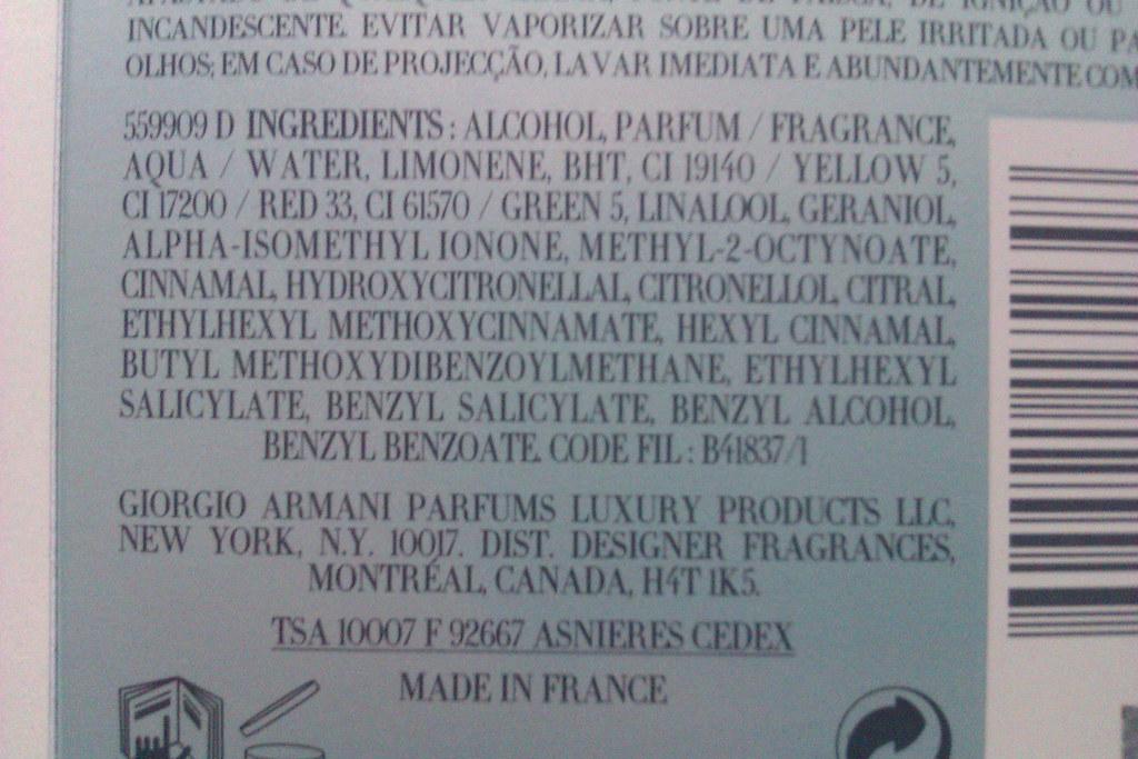 Perfume ingredients: Linalool Geraniol Alpha-isomethyl ion