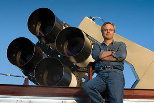 Tom Vestrand poses with RAPTOR-T | by Los Alamos National Laboratory