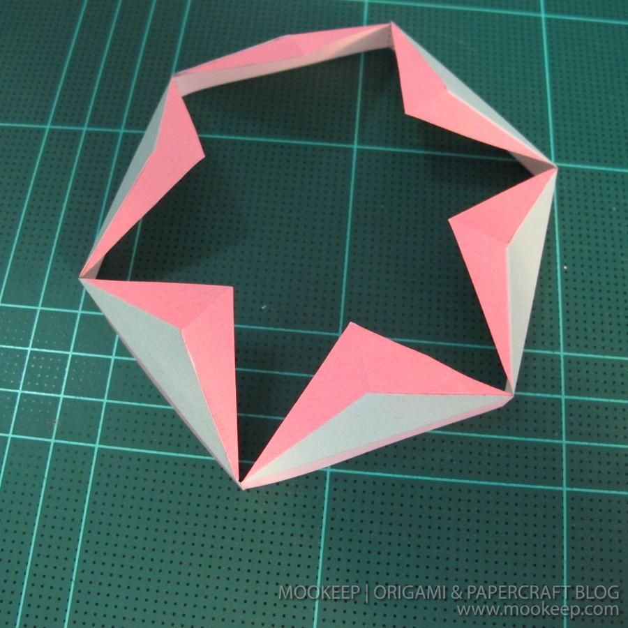 สอนทำโมเดลกระดาษเป้นรูปแจกันโบราณ (Papercraft Model Flower Vase) 006