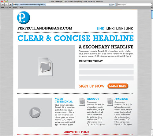 The perfect landing page [INFOGRAPHIC] | by Gavin Llewellyn