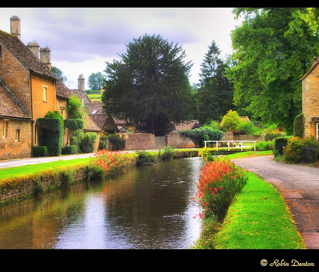 Village of Lower Slaughter, The Cotswolds, UK