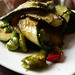 Zucchini, broad beans, chili