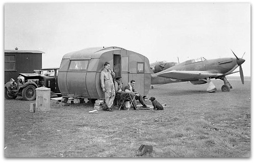 Fighter Pilots Of No 111 Squadron Raf Relax With A Pet Do