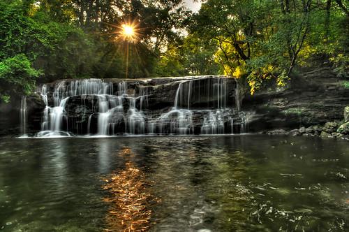 sunlight waterfall hdr sunbeams blountcounty gravescreek alabamawaterfalls mardismillfalls gravescreekfalls