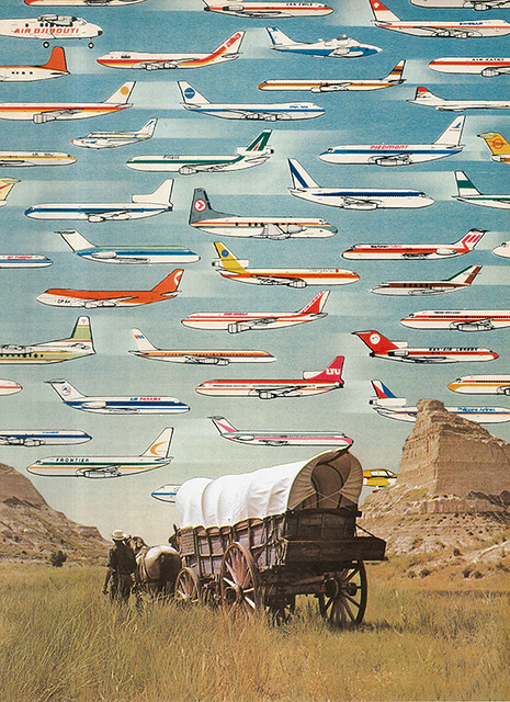 Collage Art by Morgan Jesse Lappin (Brooklyn, NY): Over There Yonder