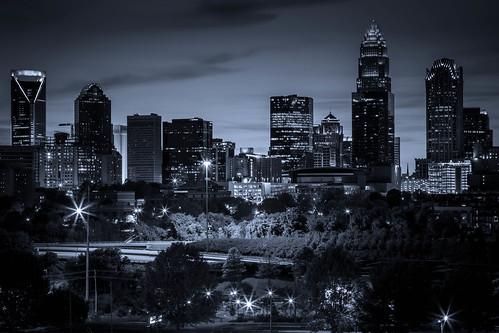 skyline night canon landscape nc long exposure charlotte north carolina 5d dslr miii 24105