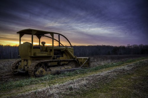 sunset clouds rural landscape high dynamic farm range hdr bulldozer 2012 365project photobyjonathanbritt