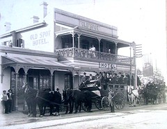 Old Spot and Coach Ca. 1895 - 1907