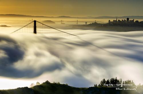 sanfrancisco california city usa fog