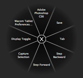 Wacom Intuos Radial Menu | You can trigger this however you