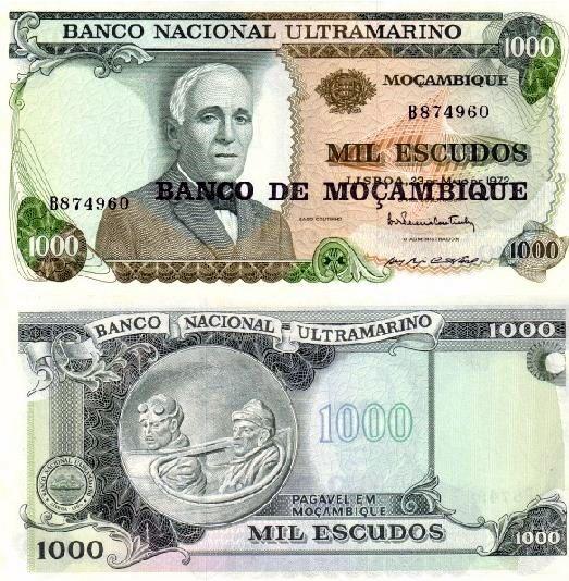 1000 Escudos Mozambik 1976, Pick 119