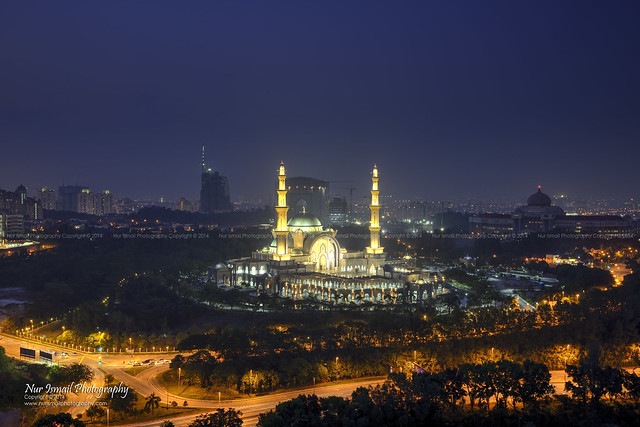 Blue Hour Sunset at Federal Territory Mosque