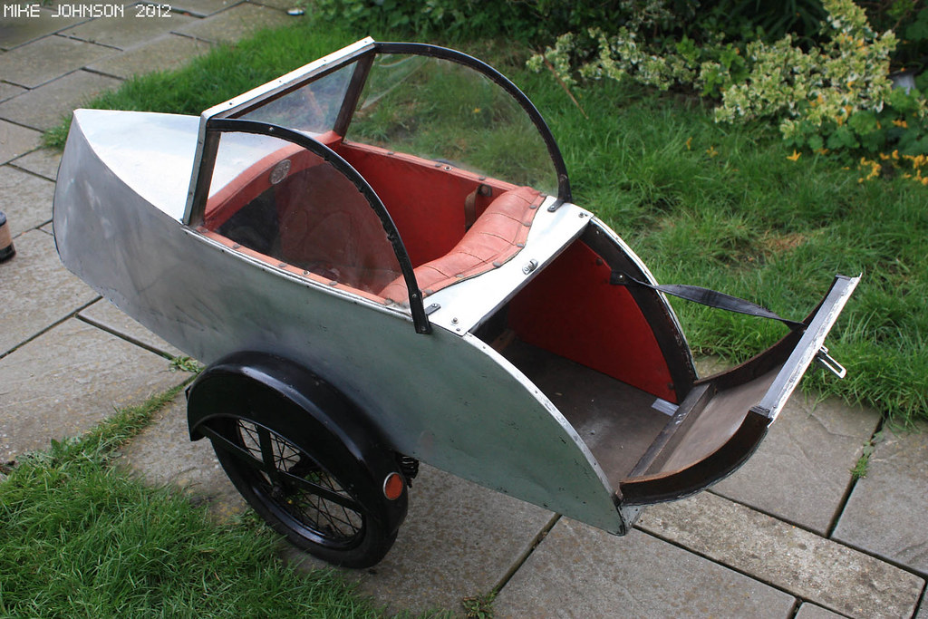Watsonian bicycle sidecar | Showing the very spacious boot