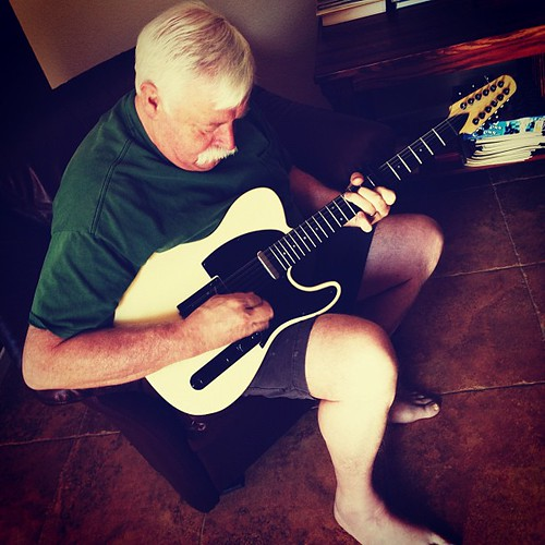 My dad playing the 12-string  he built. Modeled after Fender Telecaster. Nice! #musicalfamily | by sarahwulfeck