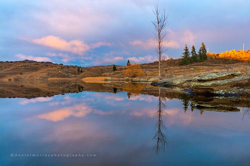 morning newzealand lake reflection water sunrise landscape scenery nz centralotago southnz