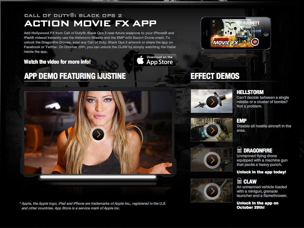 iJustine! Call of Duty®: Black Ops 2 Action Movie FX App   Flickr