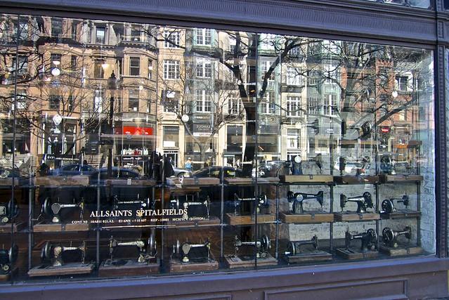 Boston Shop Window Reflection