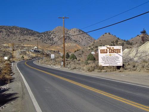 road sign landscape highway scenery desert nevada roadtrip goldhill goldcanyon comstocklode sr342