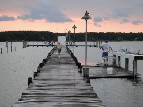 Pier at Scheible's Fishing Center, Ridge