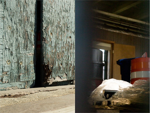 door orange vermont industrial factory view hole empty barrel gap pinhole crack warehouse spy springfield vt