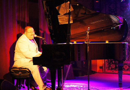 John Gros plays the Solo Stage in the Parish for Piano Night. photo Bill Sasser