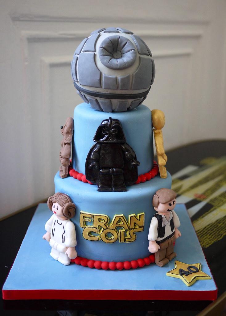 Sensational Lego Star Wars Cake Oooh My Cake Happy Day Flickr Funny Birthday Cards Online Overcheapnameinfo