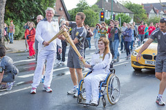 Olympic Torch Relay - Chloe Jones & Neil Gorman, Vice-Chancellor