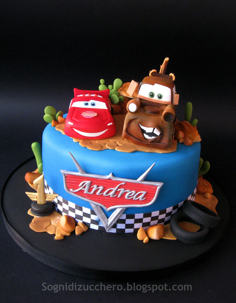 Miraculous Saetta Mcqueen Mater Cake Maria Letizia Bruno Flickr Funny Birthday Cards Online Bapapcheapnameinfo